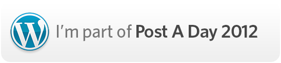 I'm part of Post A Day 2012