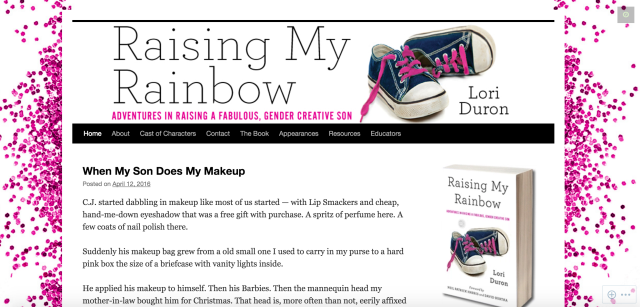 raising my rainbow homepage