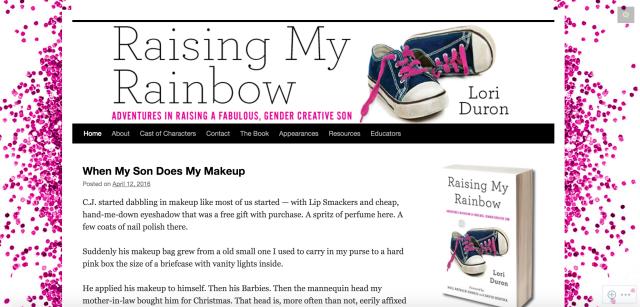 raising my rainbow homepage
