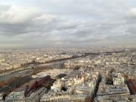 Paris from the Eiffel Tower (December 2012)