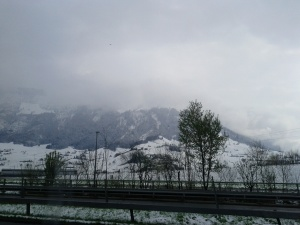 Snow in Switzerland (April 2012)