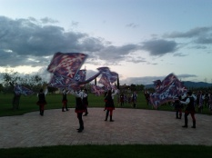 Flag ceremony in Umbria, Italy (April 2012)