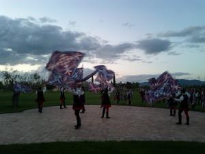 Flag ceremony in Umbria, Italy (April 2012)