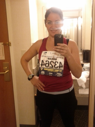 Ready for the half marathon (July 2012)