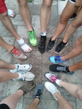 Running with colleagues in San Diego (September 2012)