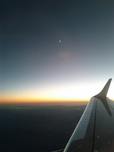 Flying to Bulgaria - the moon (October 2012)