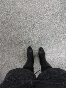 Winter boots and shorts (November 2012)
