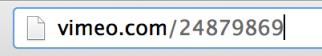 Vimeo URL