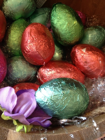 I resist buying all of the other brightly wrapped chocolate eggs. Resist!