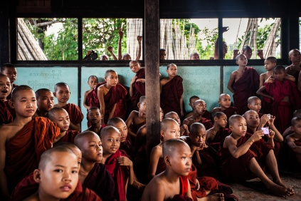 Young novice monks in Mandalay, Myanmar
