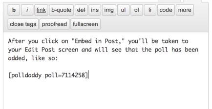 Embedded in post