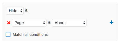 Widget Visibility Hide Example