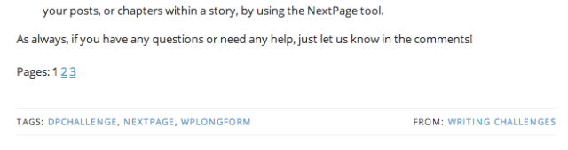The numbers at the bottom of this post are an example of NextPage in action.