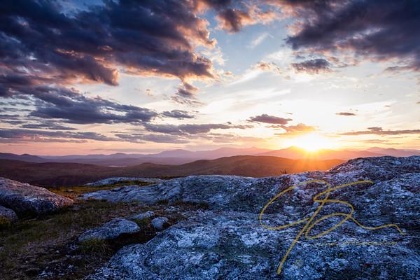 Sunset at Foss Mountain, New Hampshire