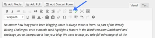 "The More Tag in your Visual Editor lets you add a ""Read More"" link to split your post content."
