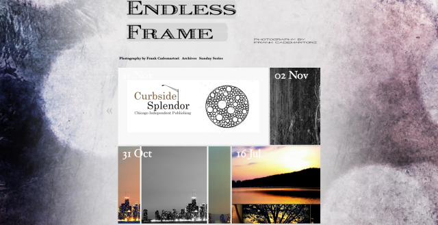 Frank Cademartori's blog, Endless Frame, using the AutoFocus theme.