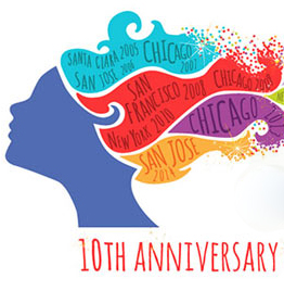 blogher 10th anniversary logo