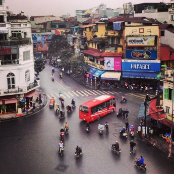 A shot of Hanoi traffic. Original.
