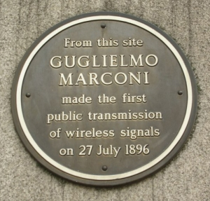 We didn't have time to get trophies for each one of you, so enjoy this photo of a Guglielmo Marconi commemorative plaque. (Photo by Julian Osley, CC BY-SA 2.o.)
