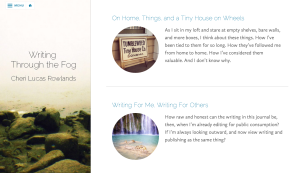 My blog, using the Kent theme
