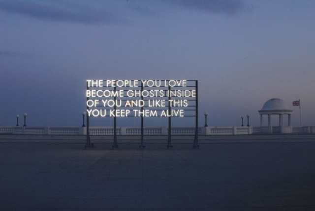 Billboard poetry by Robert Montgomery. Photo credit: the artist's site.