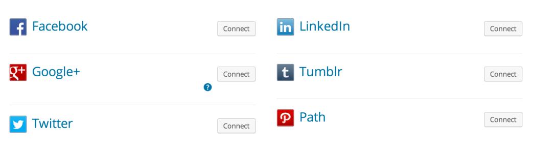 collegamenti social netwok