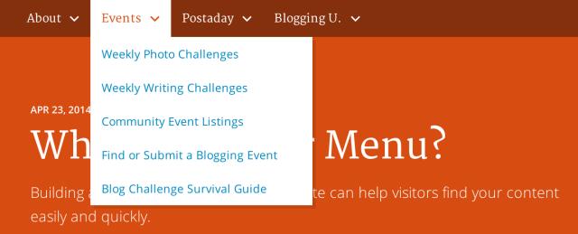 daily post menu