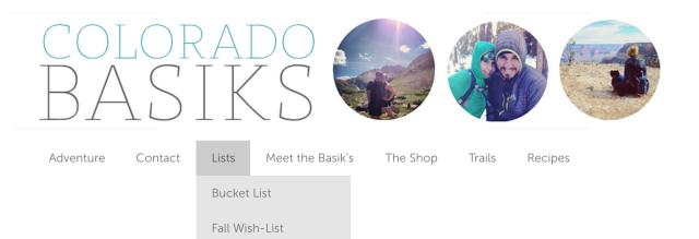 colorado basiks custom menu