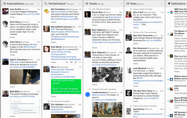My feed in TweetDeck