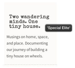 WhatFont used on the Bloggy theme, which identifies the Special Elite font.