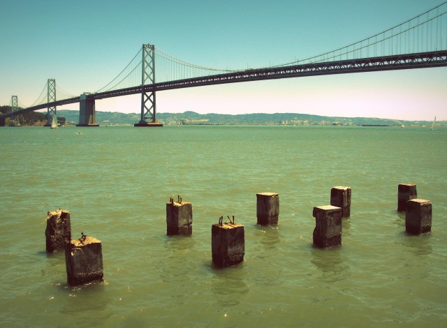 Photo of the San Francisco Bay Bridge by Cheri Lucas Rowlands.