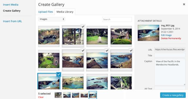 create gallery