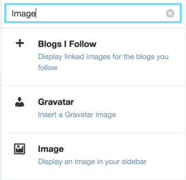 Image widget search