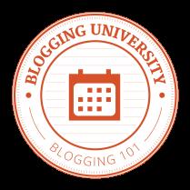blogging 101 badge