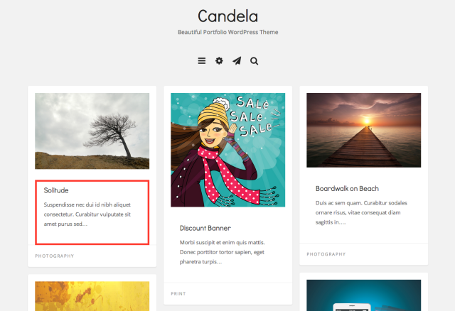 Here's an example of how the Candela theme uses custom excerpts.