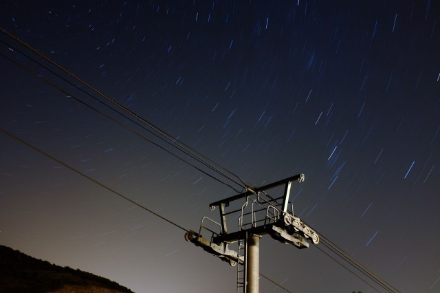 Wheels and Stars. f/5.6, 11min, ISO 200