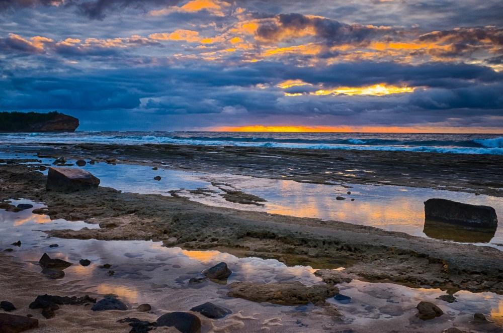 Sunrise over Kauai. Photo by Brie Anne Demkiw.