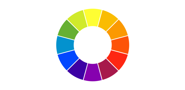 A Common Color Wheel Contains 12 Colors Three Primary Secondary And Six Tertiary