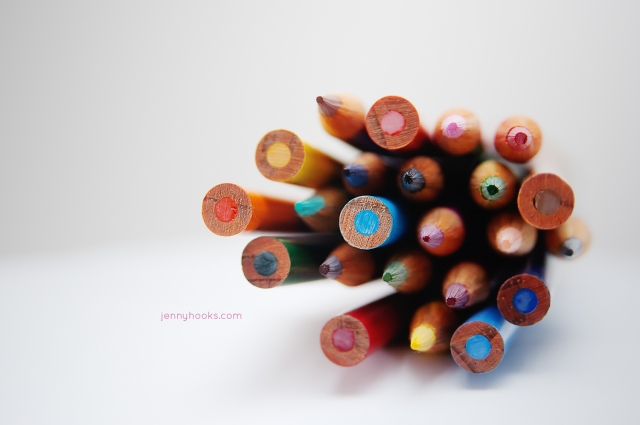 Photo of colored pencils by Jen Hooks.
