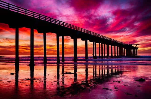 Scripps Pier in La Jolla, California. Photo by Brie Anne Demkiw.