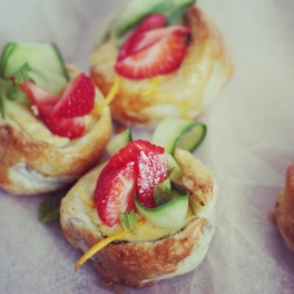 Pimms Tartlets, Finger, Fork & Knife.