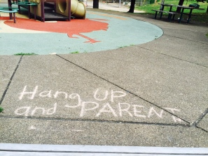 """Found Message at the Playground"" by Ruth E Hendricks Photography"