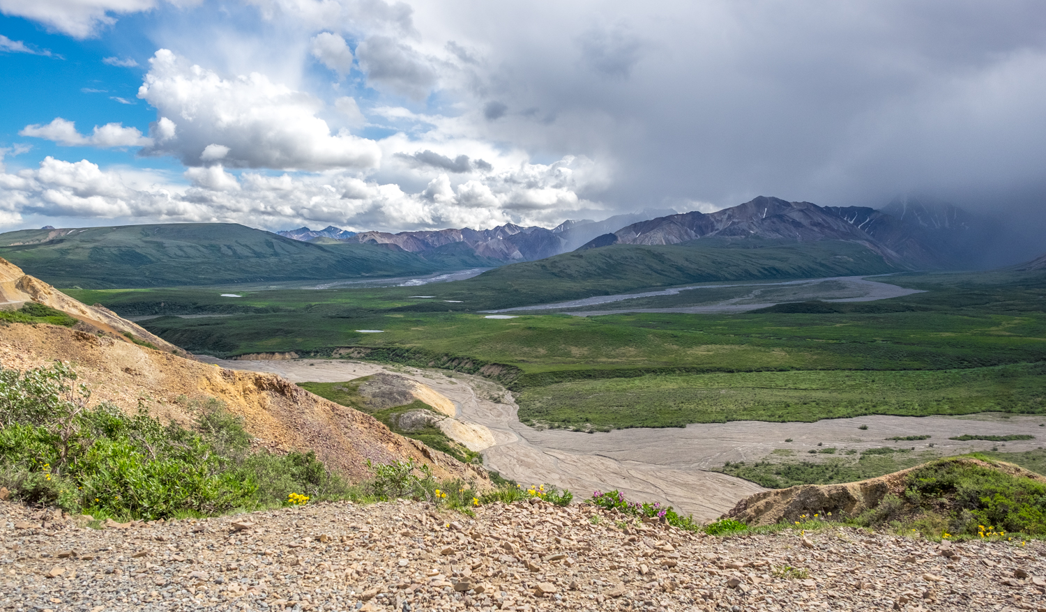 An image of weather changing at Denali National Park, Alaska, USA