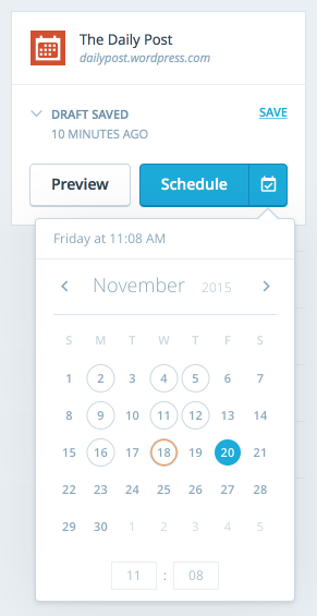 Editor-Schedule