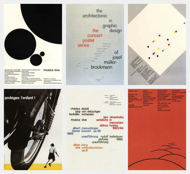 Swiss-style posters by Josef Müller-Brockmann