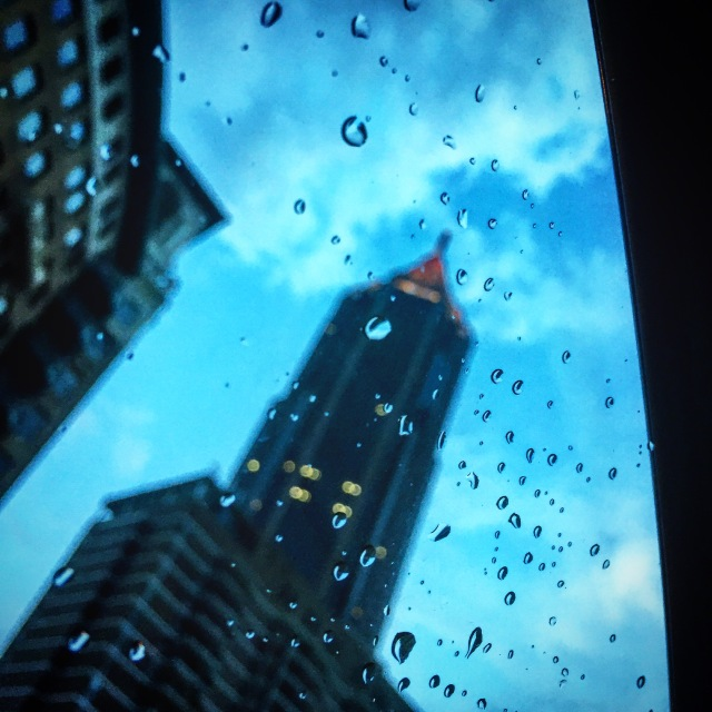 raindrops on the skyline