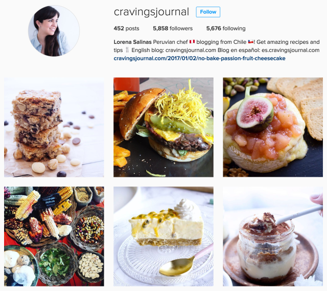 CravingsJournal.com on Instagram