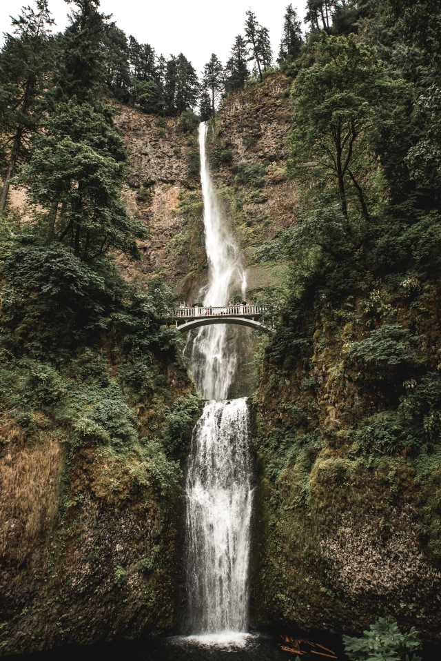 A photo of Multnomah falls in Oregon taken by Caleb Jones