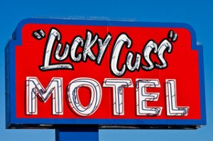 Not everyone wants to check in to the Lucky Cuss. Photo by Thomas Hawk,  (CC BY-NC 2.0).