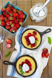 Strawberry Skillet Cornmeal Cake, by Theresa of The Craving Chronicles.